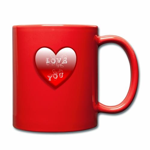 Love You - Tasse einfarbig