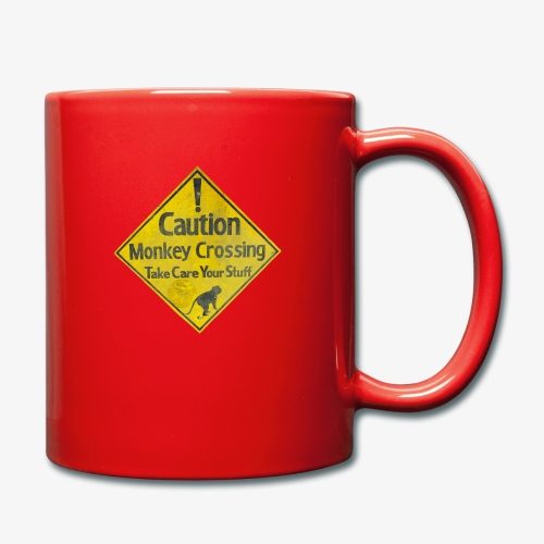 Caution Monkey Crossing - Tasse einfarbig