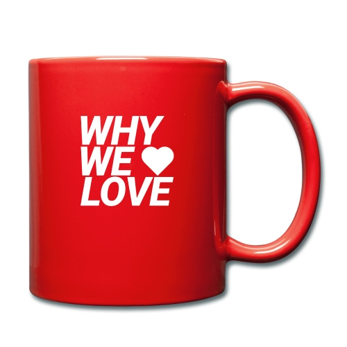 WHY WE LOVE logo web - Taza de un color