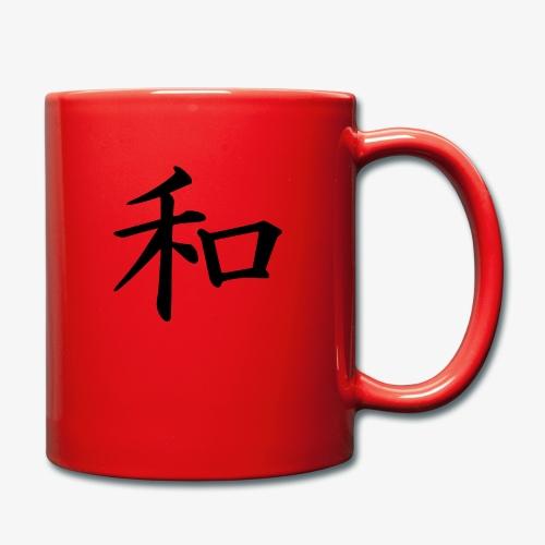 Japanische Schrift, Frieden/ Peace Motiv T-Shirt - Tasse einfarbig