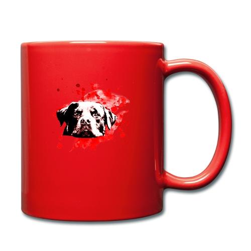 Rottweiler Watercolor red - Tasse einfarbig