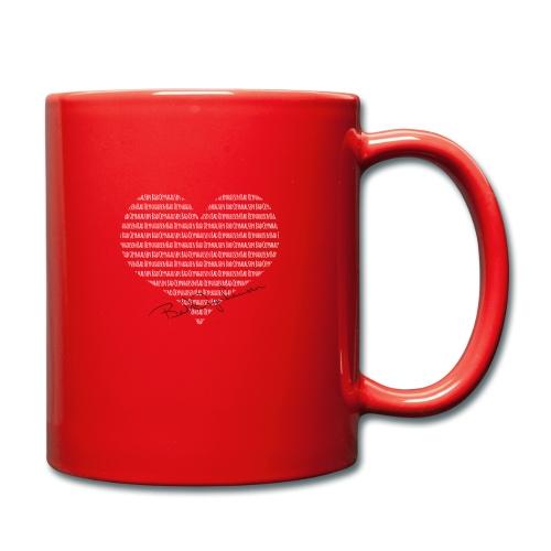Das Herz am rechten Fleck - Tasse einfarbig