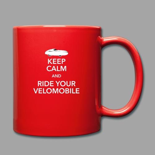 Keep calm and ride your velomobile white - Yksivärinen muki