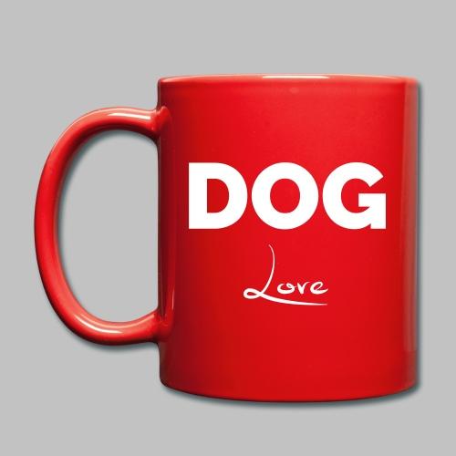DOG LOVE - Geschenkidee für Hundebesitzer - Tasse einfarbig