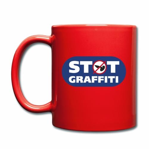 støt graffiti - blk logo - Ensfarvet krus