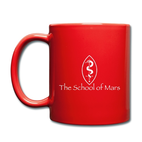 SoM Crest (White) w/ Text - Full Colour Mug