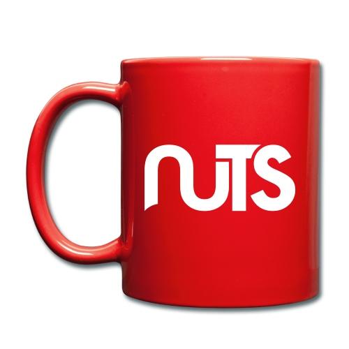 Nuts logo wit - Mok uni