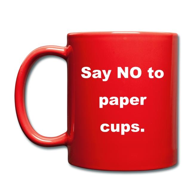 Bye bye paper cups