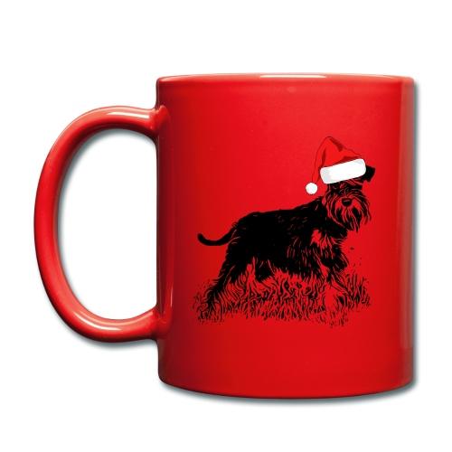 Weihnachten Zwergschnauzer Hund Schnauzer Geschenk - Tasse einfarbig