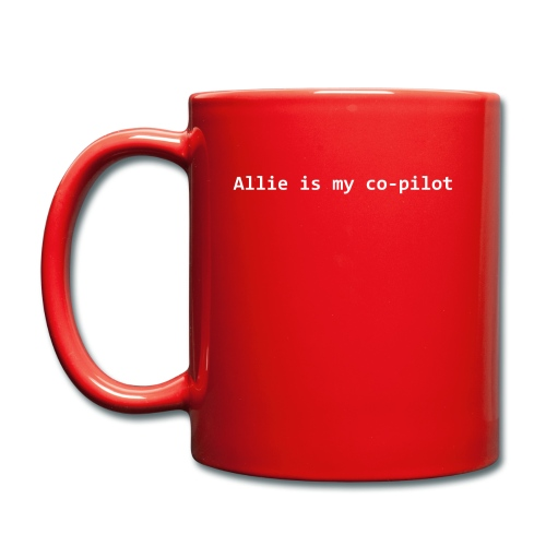 Allie is my co-pilot - Full Colour Mug