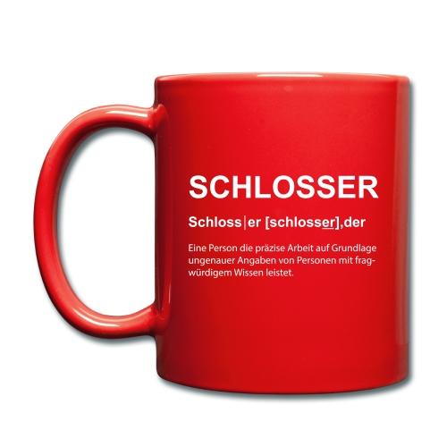 Schlosser Bezeichnung - Tasse einfarbig