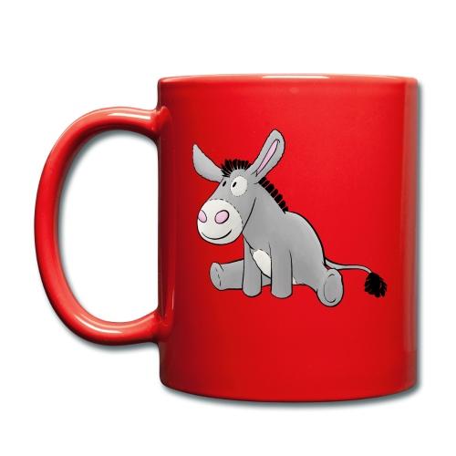 Esel - Kuschelesel sitzend - Tasse einfarbig