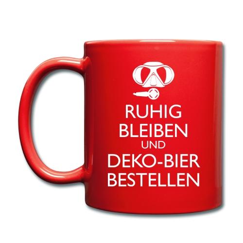 Ruhig bleiben und Deko-Bier bestellen Umhängetasc - Tasse einfarbig