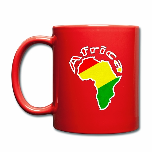 Afrika - rot gold grün - Tasse einfarbig