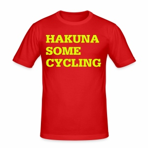 Hakuna some cycling - Männer Slim Fit T-Shirt