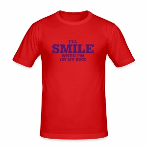 i will smile - Männer Slim Fit T-Shirt