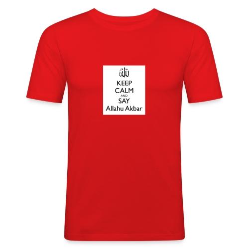 keep-calm-and-say-allahu-akbar - Männer Slim Fit T-Shirt