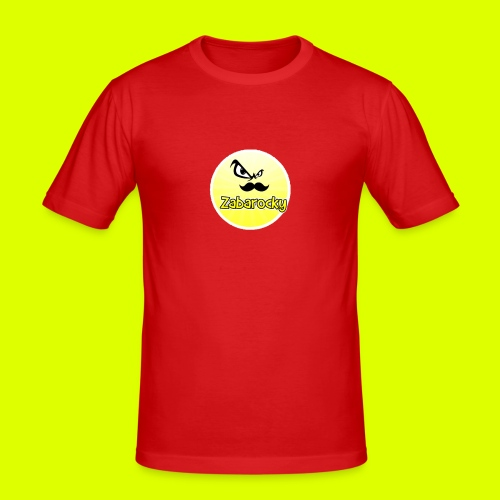 Shirt with nice logo with text - Men's Slim Fit T-Shirt