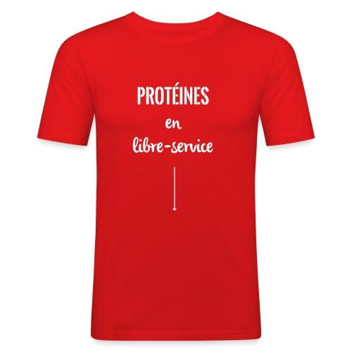 proteines libre service - T-shirt près du corps Homme