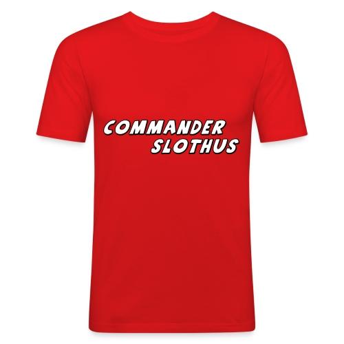 CommanderSlothus Logo - Men's Slim Fit T-Shirt