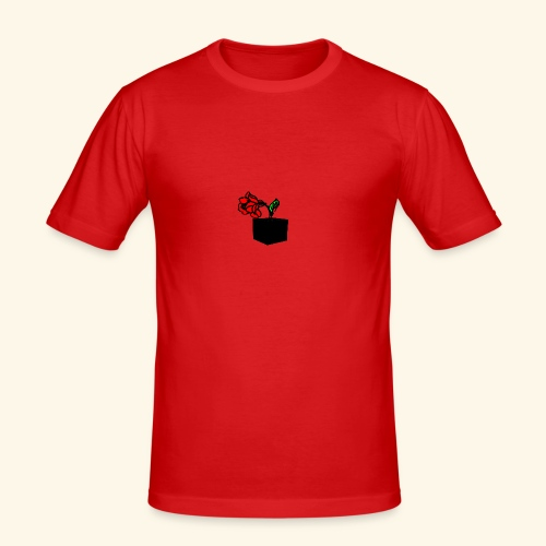 rose cube - T-shirt près du corps Homme