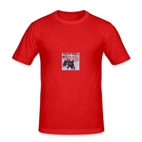niggi get smart by superlisamcb - Männer Slim Fit T-Shirt