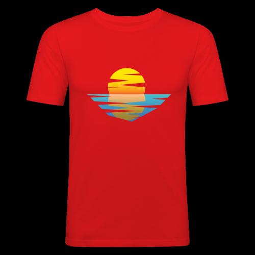 Sunset - Männer Slim Fit T-Shirt