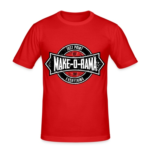 Make-o-Rama Grunge Circle - Männer Slim Fit T-Shirt