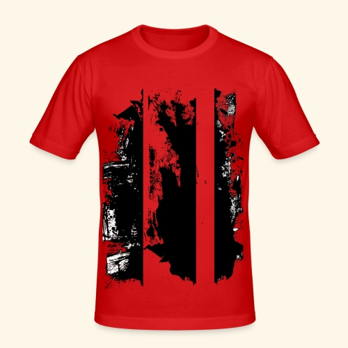 Brush Art - Männer Slim Fit T-Shirt