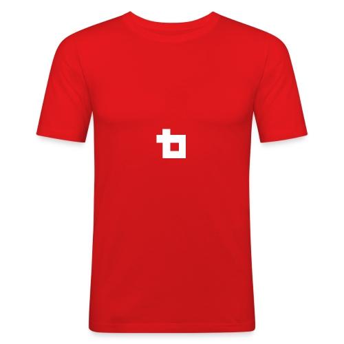 Lunatics Logga, vit - Slim Fit T-shirt herr