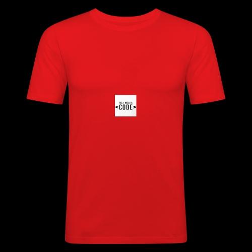 ALL I NEED IS - Männer Slim Fit T-Shirt