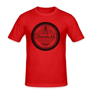 Circlular Threads.AK Logo - Men's Slim Fit T-Shirt