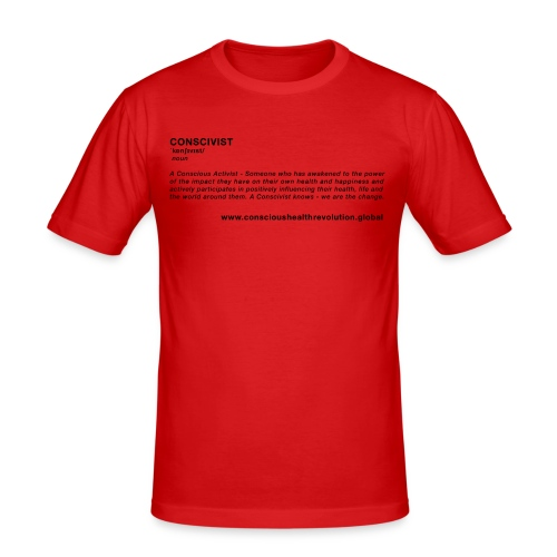 Conscivist Definition - Men's Slim Fit T-Shirt