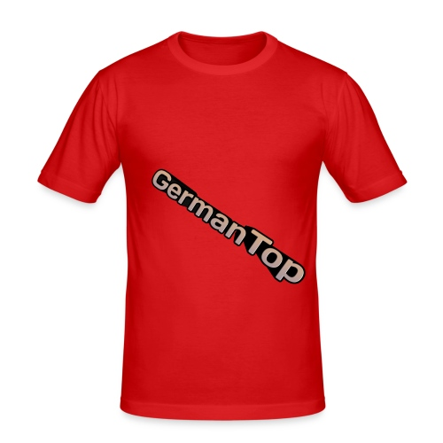 GermanTop Logo - Männer Slim Fit T-Shirt