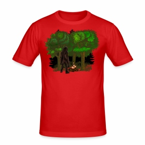 Bigfoot Campfire Forest - Men's Slim Fit T-Shirt