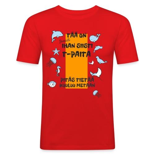 Meta: Semisti ihan siisti t-paita - Men's Slim Fit T-Shirt