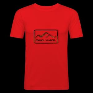 Mount Virginia Dark - Männer Slim Fit T-Shirt
