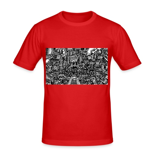 weird drawings - slim fit T-shirt