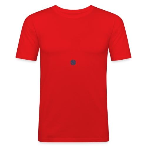 Logo azul - Camiseta ajustada hombre