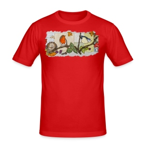 Autumn Scene - Men's Slim Fit T-Shirt