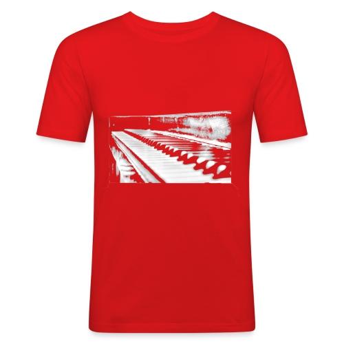 piano weiß - Männer Slim Fit T-Shirt