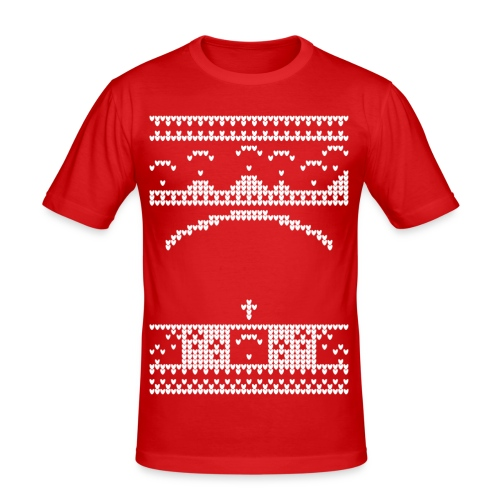 Paragliding Christmas Jumper - Men's Slim Fit T-Shirt
