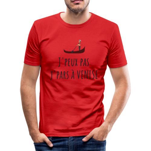 J'PEUX PAS J'PARS À VENISE - T-shirt près du corps Homme
