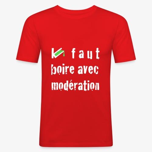 test t shirt FACE BLANC - T-shirt près du corps Homme