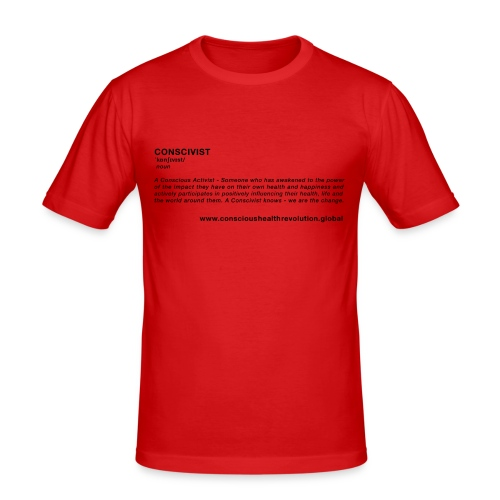 Conscivist Definition - Men's Slim Fit T-Shirt