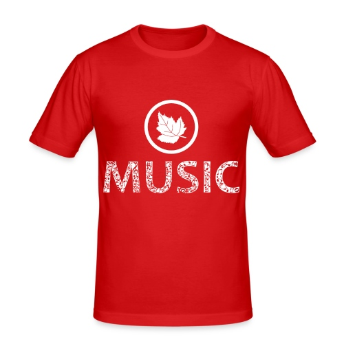 logo bashk music e bardhe - Men's Slim Fit T-Shirt