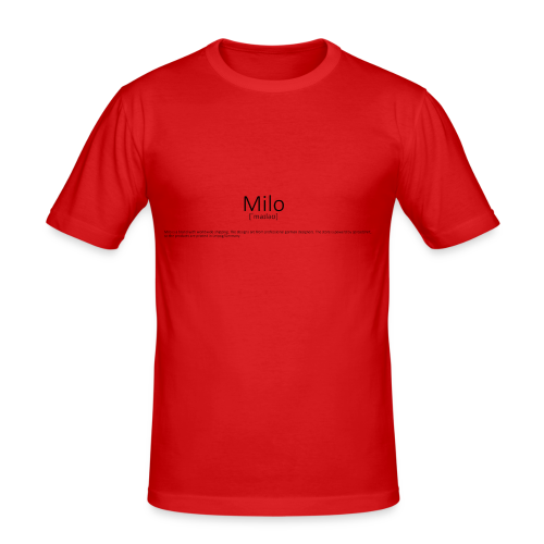 Milo Definition - Männer Slim Fit T-Shirt