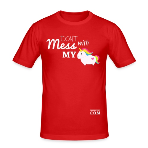 Don´t mess with my unicorn - Männer Slim Fit T-Shirt