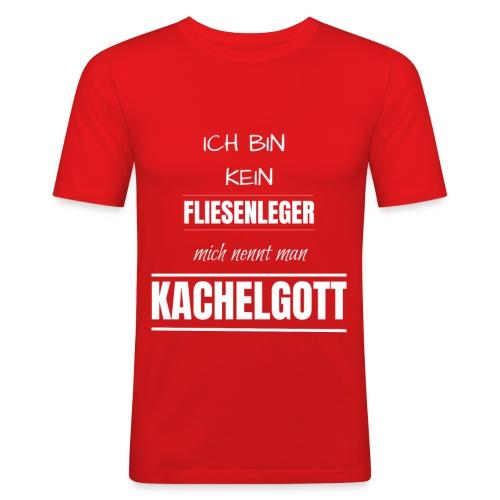 Fliesenleger Kachelgott Beruf Spruch Geburtstag - Männer Slim Fit T-Shirt
