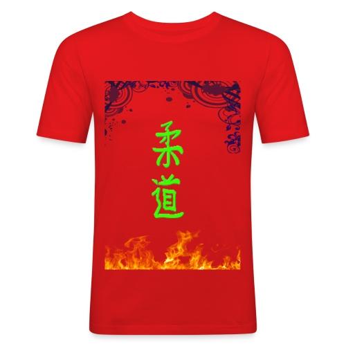Judo On Fire - T-shirt près du corps Homme